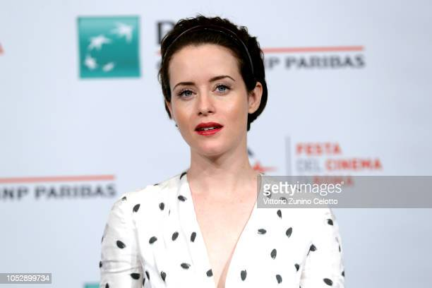 Claire Foy attends The Girl In The Spider's Web photocall during the 13th Rome Film Fest at Auditorium Parco Della Musica on October 24 2018 in Rome...