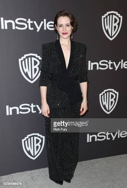 Claire Foy attends the InStyle And Warner Bros. Golden Globes After Party 2019 at The Beverly Hilton Hotel on January 6, 2019 in Beverly Hills,...