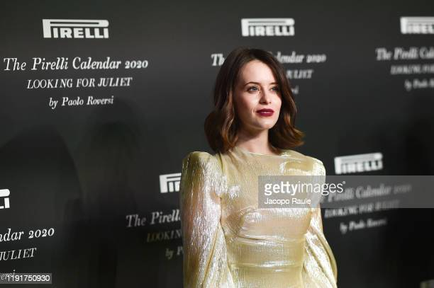 """Claire Foy attends the presentation of the Pirelli 2020 Calendar """"Looking For Juliet"""" at Teatro Filarmonico on December 03, 2019 in Verona, Italy."""
