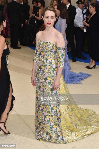"""Claire Foy attends the """"Rei Kawakubo/Comme des Garcons: Art Of The In-Between"""" Costume Institute Gala at Metropolitan Museum of Art on May 1, 2017 in..."""