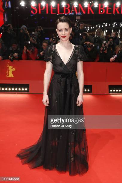 Claire Foy attends the 'Unsane' premiere during the 68th Berlinale International Film Festival Berlin at Berlinale Palast on February 21 2018 in...
