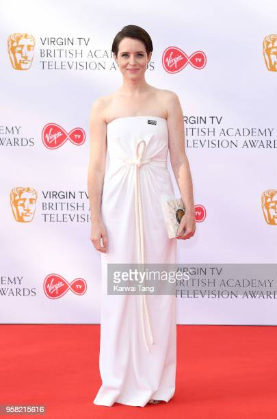 Claire Foy attends the Virgin TV British Academy Television Awards at The Royal Festival Hall on May 13 2018 in London England
