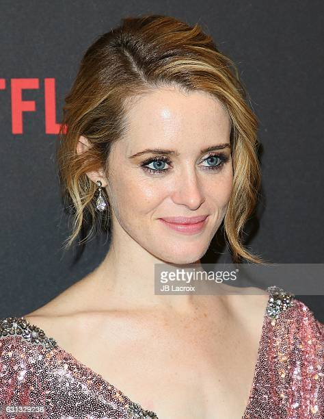 Claire Foy attends The Weinstein Company and Netflix Golden Globe Party presented with FIJI Water Grey Goose Vodka Lindt Chocolate and Moroccan Oil...