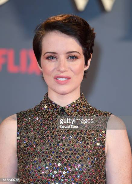 Claire Foy attends the World Premiere of Netflix's 'The Crown' Season 2 at Odeon Leicester Square on November 21 2017 in London England