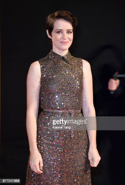 Claire Foy attends the World Premiere of Netflix's The Crown Season 2 at Odeon Leicester Square on November 21 2017 in London England
