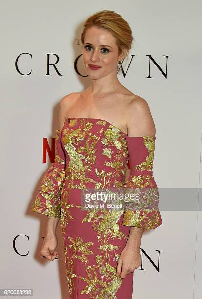 Claire Foy attends the World Premiere of new Netflix Original series 'The Crown' at Odeon Leicester Square on November 1 2016 in London England