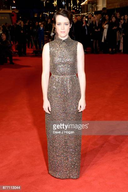 Claire Foy attends the World Premiere of season 2 of Netflix 'The Crown' at Odeon Leicester Square on November 21 2017 in London England