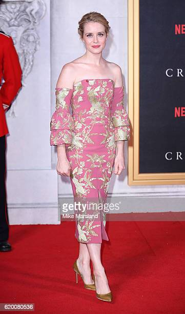 Claire Foy attends the world premiere of 'The Crown' at Odeon Leicester Square on November 1 2016 in London England