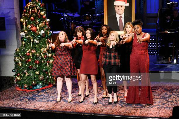 LIVE Claire Foy Episode 1753 Pictured Aidy Bryant Melissa Villaseñor Cecily Strong Ego Nwodim Kate McKinnon Heidi Gardner and Leslie Jones during All...