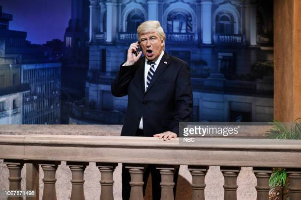 LIVE Claire Foy Episode 1753 Pictured Alec Baldwin as Donald Trump during the Trump Cold Open in Studio 8H on Saturday December 1 2018