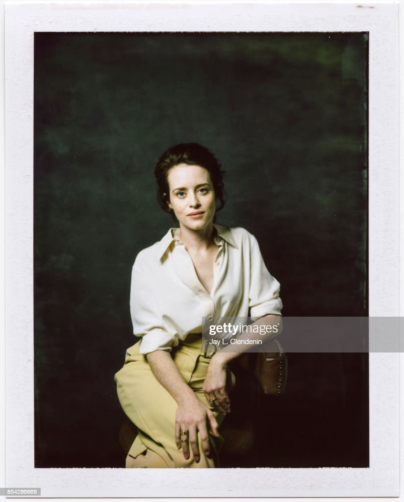 Claire Foy, from the film, 'Breathe,' is photographed on polaroid film at the L.A. Times HQ at the 42nd Toronto International Film Festival, in Toronto, Ontario, Canada, on September 12, 2017.
