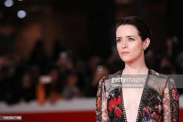 Claire Foy walks the red carpet ahead of the The Girl In The Spider's Web screening during the 13th Rome Film Fest at Auditorium Parco Della Musica...
