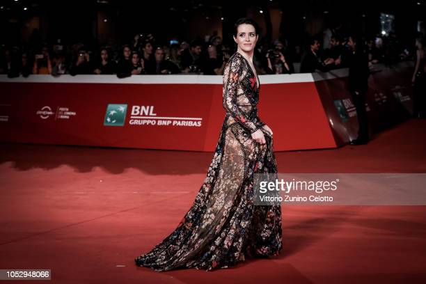 Claire Foy walks the red carpet ahead of the 'The Girl In The Spider's Web' screening during the 13th Rome Film Fest at Auditorium Parco Della Musica...