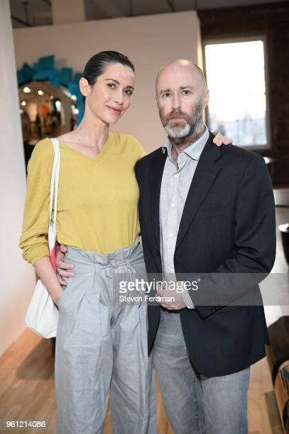 Claire Fricke and Jeff Quinn attend an art opening hosted by Ralph Pucci on May 21 2018 in New York City