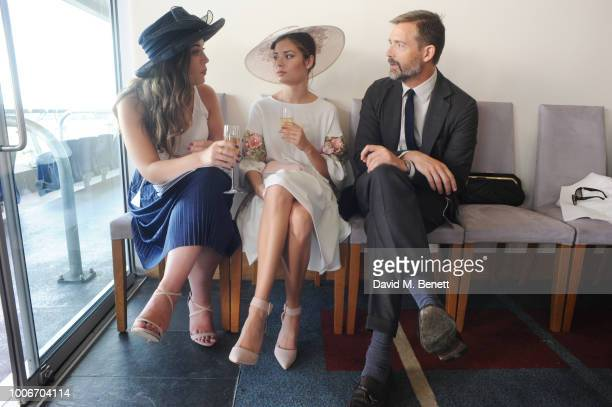 Claire Grant Nina Nesbitt and Patrick Grant attend the King George Weekend at Ascot Racecourse on July 28 2018 in Ascot England