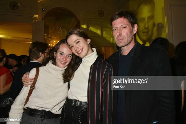 Claire Griois Celeste Levy and Cyrille Troubetzkoy attend 'Le Bal Jaune 2018' 20th Anniversary at Hotel Salomon de Rothschild on October 19 2018 in...