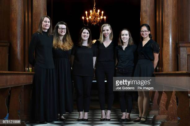 Claire InnesHopkins Ellie Carter Katy Silverman Anna Lapwood Lucy Morrell and Jessica Lim who make up part of a team of female organists who will...