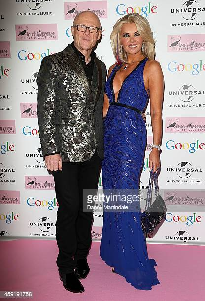 Claire Johnson and John Caudwell attends the Amy Winehouse Foundation ball at The Landmark Hotel on November 18 2014 in London England