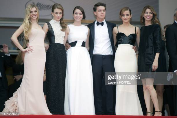 Claire Julien Taissa Fariga Katie Chang Israel Broussard Emma Watson and Sophia Coppola attend the 'Jeune Jolie' premiere during The 66th Annual...