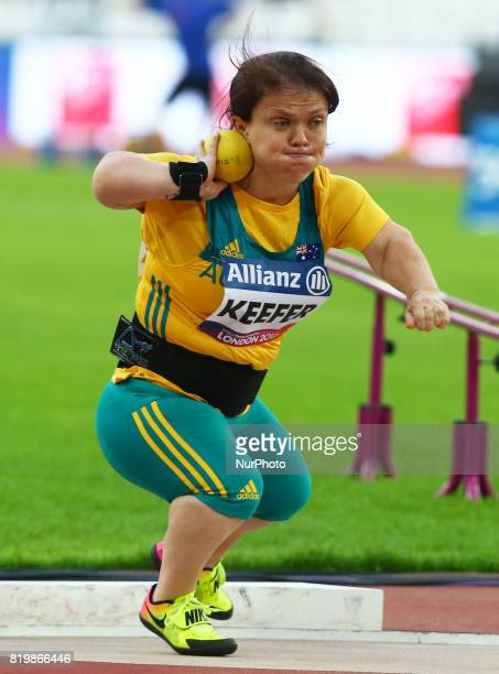 Claire Keefer of Australia compete Women's Shot Put F41 Final during World Para Athletics Championships at London Stadium in London on July 19 2017