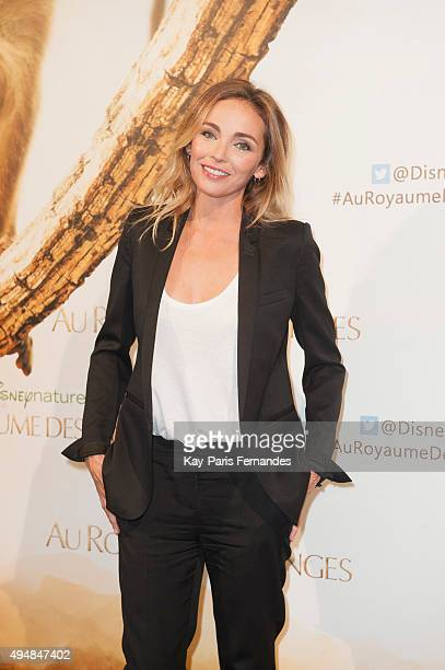 Claire Keim attends the 'Monkey Kingdom' Paris premiere at Cinema Gaumont Marignan on October 29, 2015 in Paris, France.