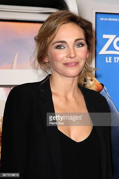"Claire Keim attends the ""Zootopie"" Paris Premiere at Gaumont Champs Elysees on January 28, 2016 in Paris, France."