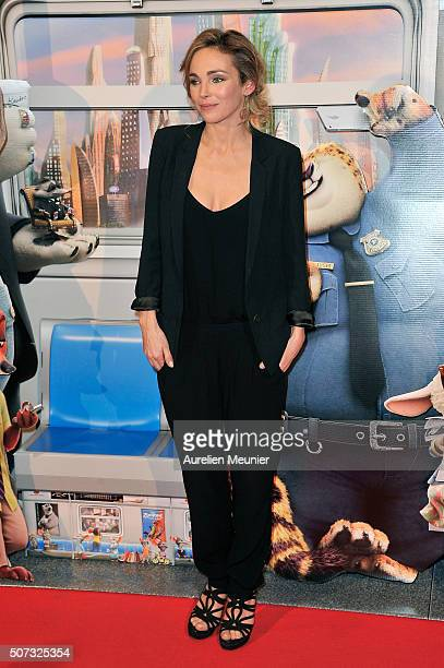 Claire Keim attends the Zootopie Paris premiere at Gaumont Champs Elysees on January 28 2016 in Paris France