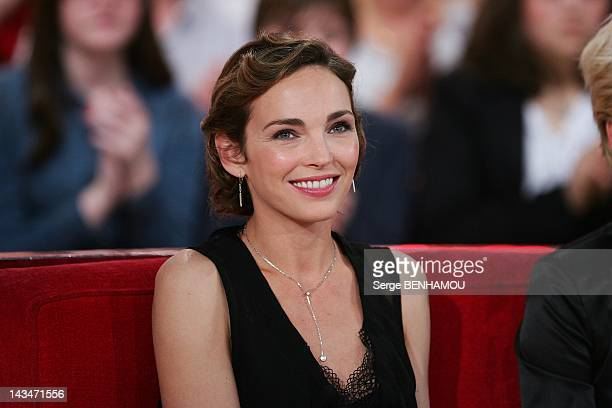 Claire Keim attends Vivement Dimanche Tv show on April 25 2012 in Paris France