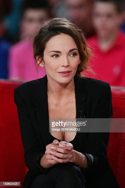 Claire Keim attends 'Vivement Dimanche' TV show on December 19 2012 in Paris France