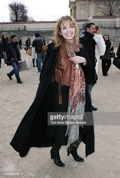 Claire Keim during Paris Fashion Week - Autumn/Winter 2006 - Ready to Wear - Celine - Departures at Jardins Ephemeres in Paris, France.