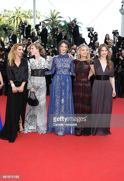 Claire Keim Isabelle Carre Josephine Jappy Melanie Laurent and Lou De Laage of 'Respire' attend 'The Homesman' Premiere at the 67th Annual Cannes...