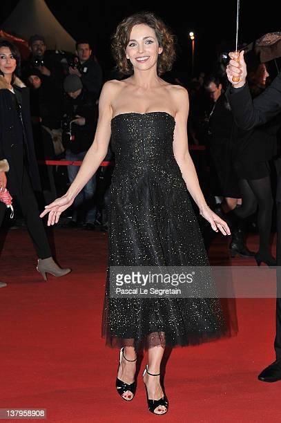 Claire Keim poses as she arrives at NRJ Music Awards 2012 at Palais des Festivals on January 28 2012 in Cannes France