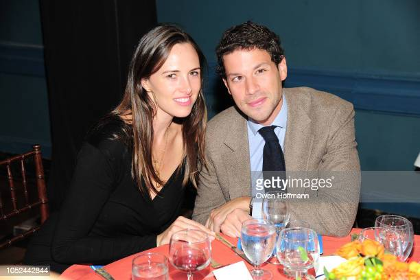 Claire Khodara and Nick Jakobson attends the Fountain House Fall Fete at The New York Racquet and Tennis Club on October 17 2018 in New York City