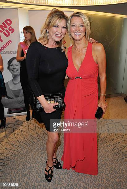 Claire King and Gillian Taylforth attend the TV Quick TV Choice Awards at The Dorchester on September 7 2009 in London England