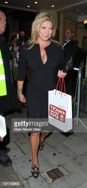 Claire King attend the TV Choice awards at the Dorchester hotel on September 10 2012 in London England
