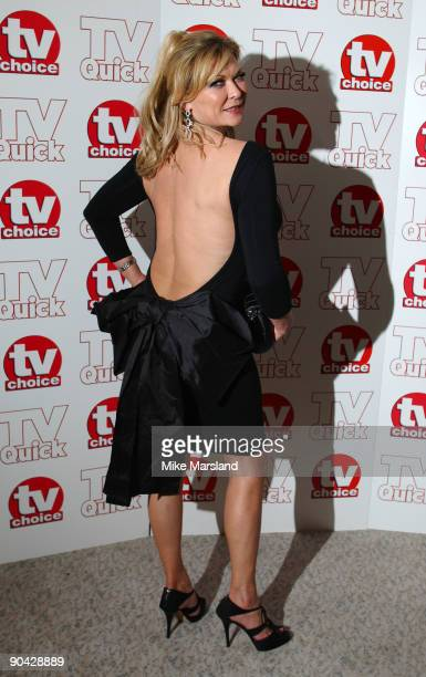 Claire King attends the TV Quick Tv Choice Awards at The Dorchester on September 7 2009 in London England