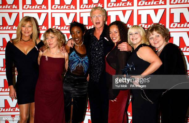 Claire King joined by other cast members from Bad Girls and comedian Paul O'Grady at the TV Quick Awards at the Dorchester Hotel in London Claire...