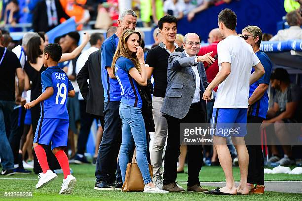 Claire Koscielny after the European Championship match Round of 16 between France and Republic of Ireland at Stade des Lumieres on June 26 2016 in...