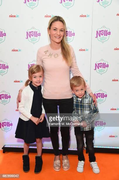 Claire Koscielny Maena Koscielny and Noah Koscielny attend the UK premiere of the brand new Nick Jr show 'Nella the Princess Knight' at 11 Cavendish...