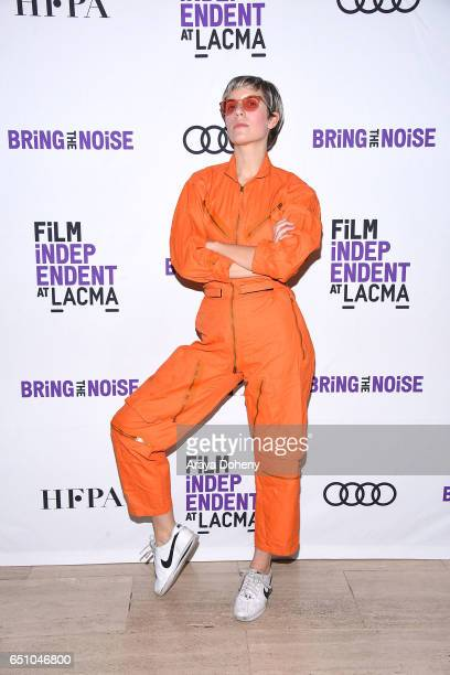 Claire L Evans of YACHT attends the Film Independent at LACMA Bring The Noise Alien at Bing Theatre At LACMA on March 9 2017 in Los Angeles California