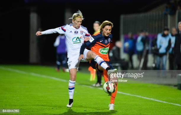 Claire LAVOGEZ / Lara DICKENMANN Montpellier / Lyon Finale Coupe de France Calais Photo Dave Winter / Icon Sport