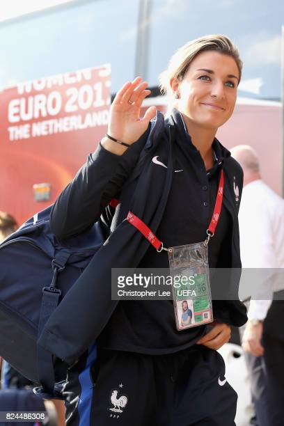 Claire Lavogez of France arrives at the stadium prior to the UEFA Women's Euro 2017 Quarter Final match between France and England at Stadion De...
