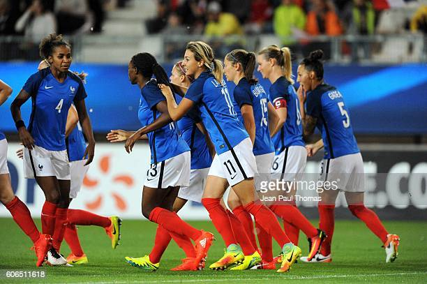 Claire LAVOGEZ of France celebrates scoring his goal during the International friendly match between France women and Brazil women on September 16...
