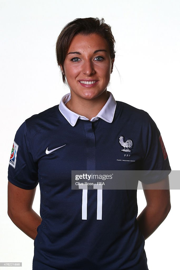 Claire Lavogez of France poses during a FIFA Women's World Cup portrait session on June 6, 2015 in Moncton, Canada.