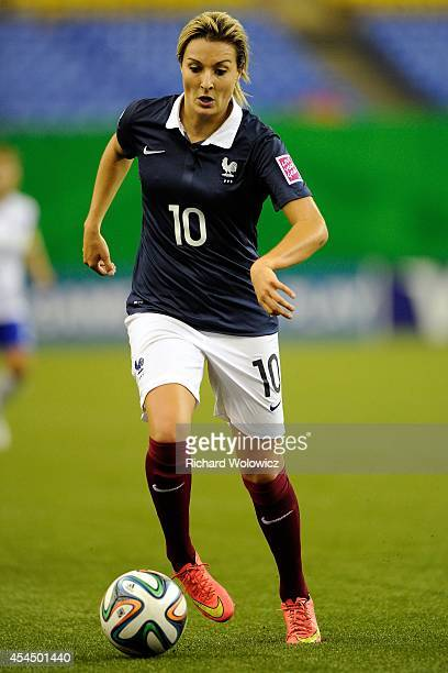Claire Lavogez of France runs with the ball during the FIFA Women's U20 Quarter Final game against Korea Republic at Olympic Stadium on August 17...
