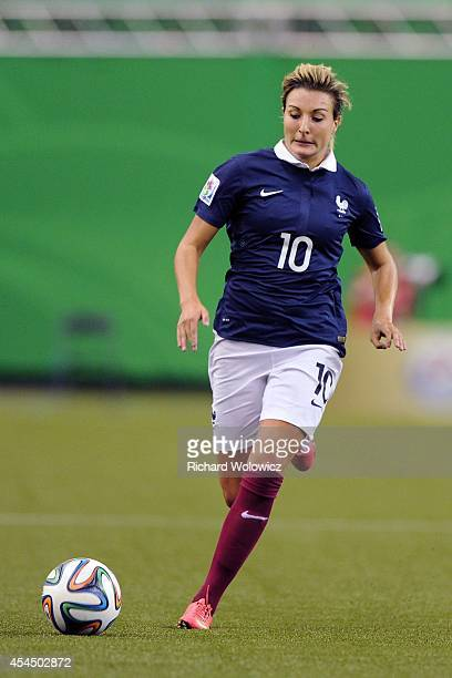 Claire Lavogez of France runs with the ball during the FIFA Women's U20 Semi Final game against Germany at Olympic Stadium on August 20 2014 in...