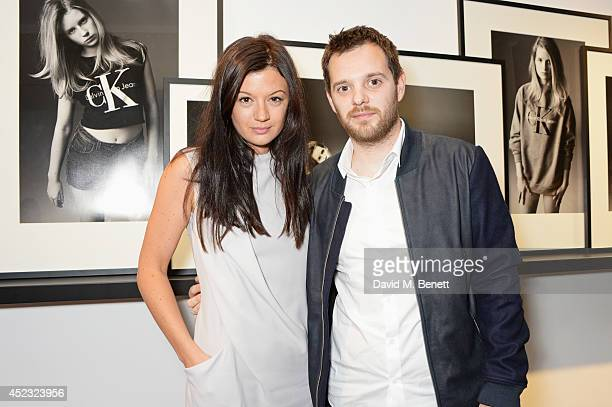 Claire Le Marquand and Mike Skinner attend the Calvin Klein Jeans x Mytheresacom party on July 17 2014 in London England