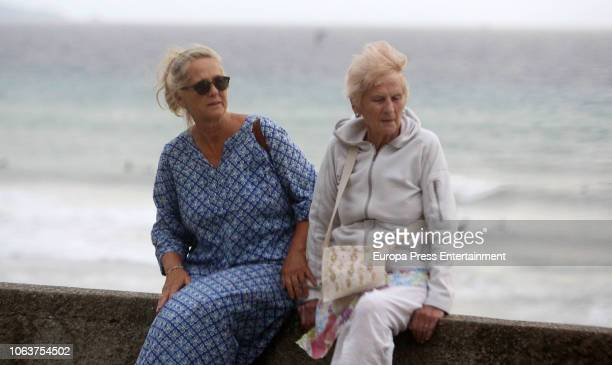 Claire Liebaert and her daughter Ana Urdangarin are seen on August 9 2018 in Bidart France