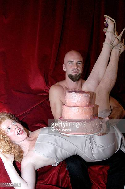 Claire Manumission and Mike Manumission during Manumission's 10th Birthday Party at Privilege in Ibiza Spain