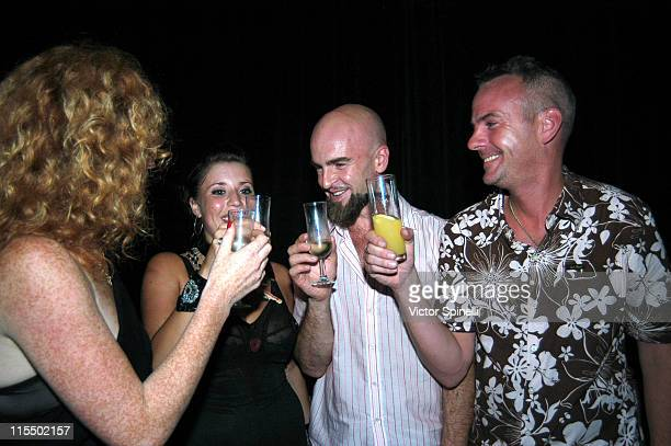 Claire Manumission Manumission entertainer Mike Manumission and Fatboy Slim